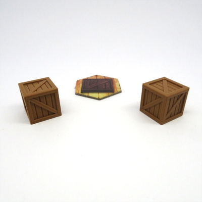 GLOOMHAVEN CRATE x2 scenery expansion plastic 3D Board game kickstarter extras